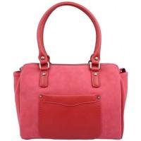 Sacs Femme Sacs porté épaule Fuchsia Sac  Tina style carré déco sellier rouge Rouge