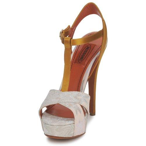Nu Tm30 Missoni Sandales GoldSilver Femme pieds Et jqRL453A