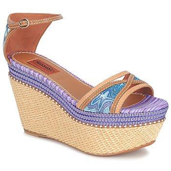 Chaussures Femme Sandales et Nu-pieds Missoni TM26 Bleu / Marron