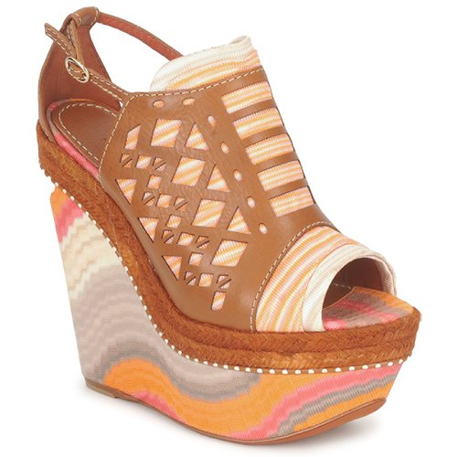 Chaussures Femme Sandales et Nu-pieds Missoni TM22 Marron / Orange