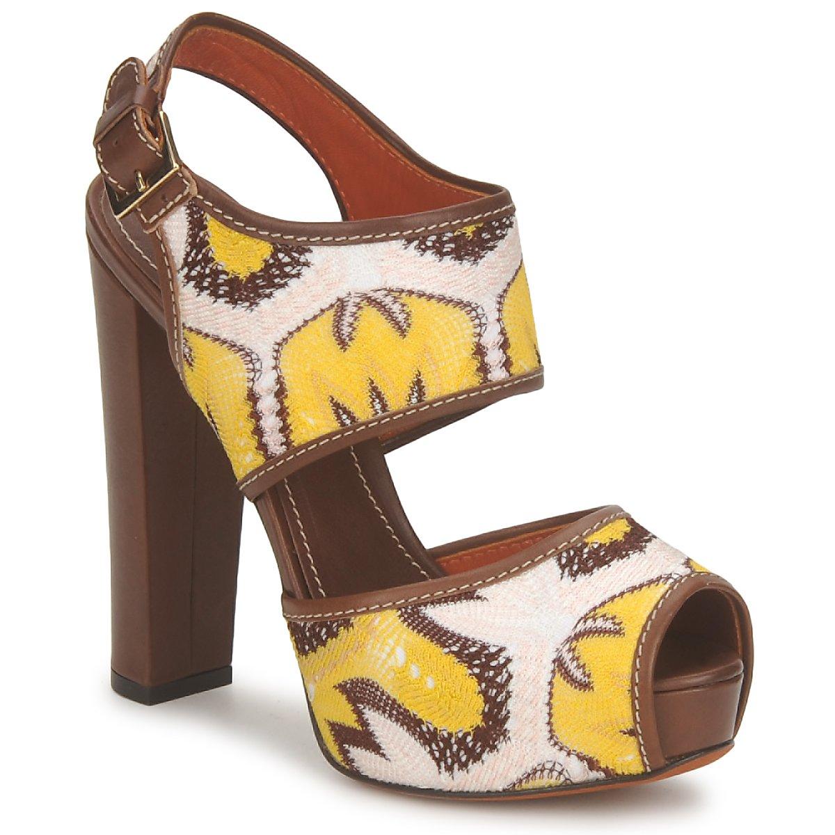 Sandale Missoni TM81 Marron / Beige / Jaune