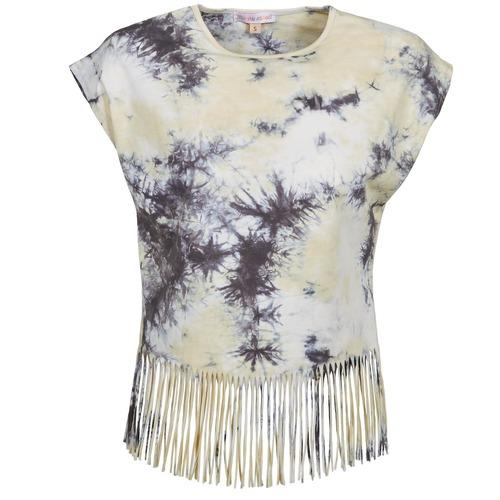 Vêtements Femme T-shirts manches courtes Moony Mood CACILIA Gris / Jaune