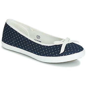 Chaussures Femme Ballerines / babies André ALBA Marine / Blanc