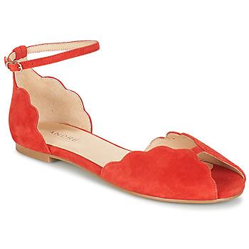 24b63a8bca66d Chaussures Femme Sandales et Nu-pieds André SERINGAT Rouge
