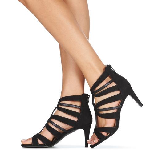 CHILI André sandales et nu-pieds femme noir