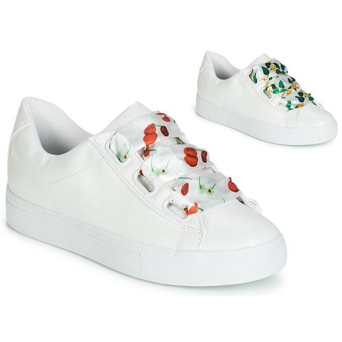 André Solange Blanc - Livraison Gratuite- Chaussures Baskets Basses Femme 3599 1ugGs