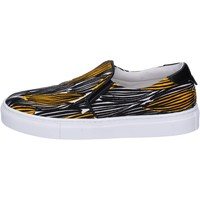Chaussures Femme Slip ons Liu Jo slip on noir toile jaune BT578 noir