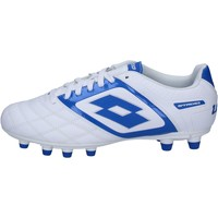 Chaussures Homme Football Lotto sneakers blanc cuir bleu BT585 blanc