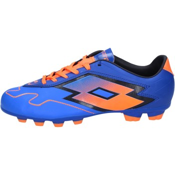 Chaussures Homme Football Lotto sneakers bleu cuir orange BT586 bleu