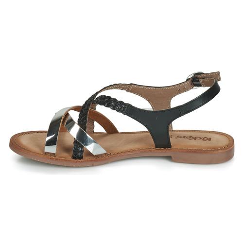 Femme Ethy Nu Kickers Et Sandales pieds Noir HDIWYeE29b