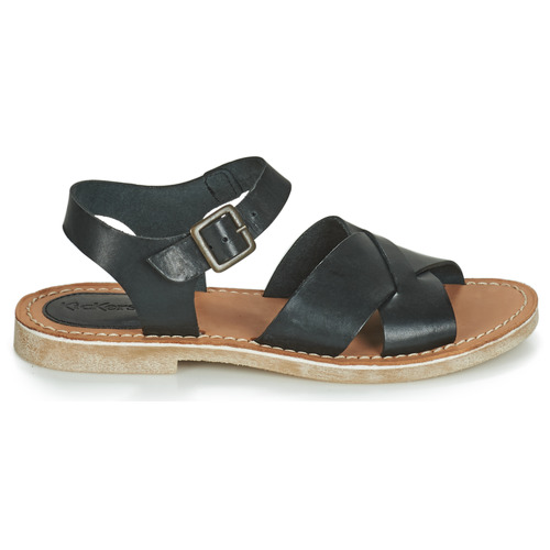 Kickers Chaussures pieds Tilly Nu Et Noir Femme Sandales SqGUpzMV
