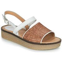 Chaussures Femme Sandales et Nu-pieds Kickers VICTORIETTE Marron / Blanc