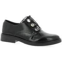 Chaussures Femme Derbies So Send Derby cuir glacé Noir