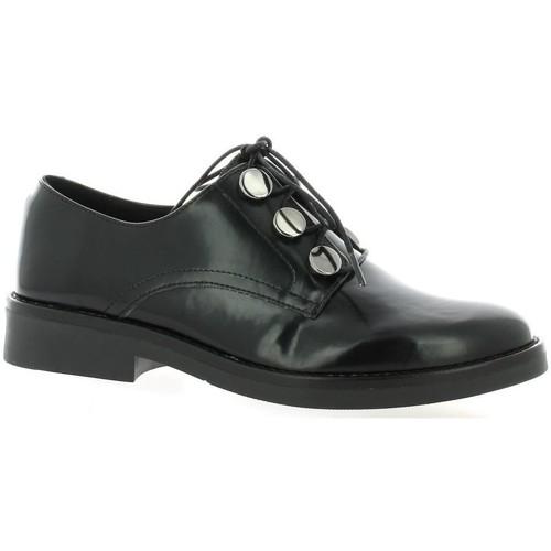 Chaussures Femme Derbies So Send Derby cuir glacé Noir