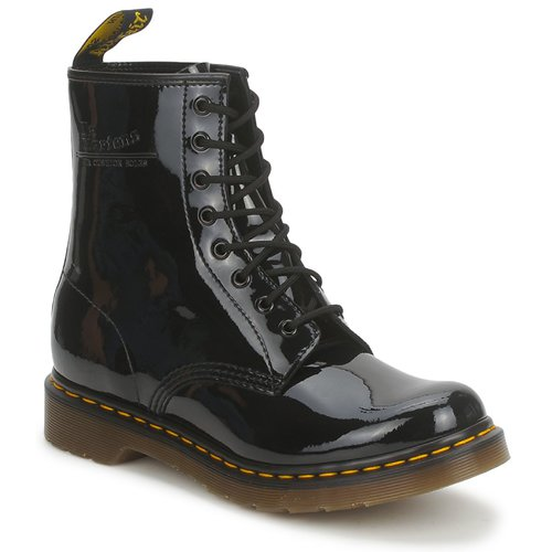 Chaussures Boots Dr Martens 1460 8 EYE BOOT Black patent