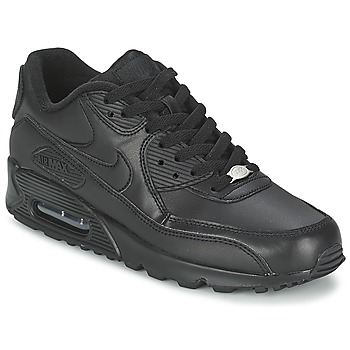 abae788bb7ecb Chaussures Homme Baskets basses Nike AIR MAX 90 LEATHER Noir