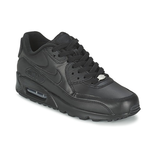 best service ae390 fdcde Chaussures Homme Baskets basses Nike AIR MAX 90 LEATHER Noir
