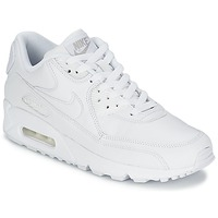 Chaussures Homme Baskets basses Nike AIR MAX 90 LEATHER Blanc