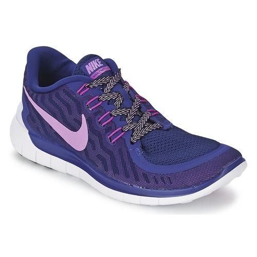 Chaussures-de-running Nike FREE 5.0 W Bleu 350x350