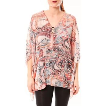 Vêtements Femme Chemises / Chemisiers De Fil En Aiguille TuniqueLove Look 1218 Rose Rose