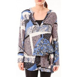 Vêtements Femme Robes courtes De Fil En Aiguille Tunique Love Look B 40 Bleu Bleu