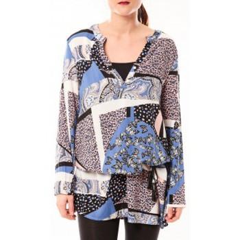 Vêtements Femme Robes courtes De Fil En Aiguille Tunique Love Look 1102 Bleu Bleu