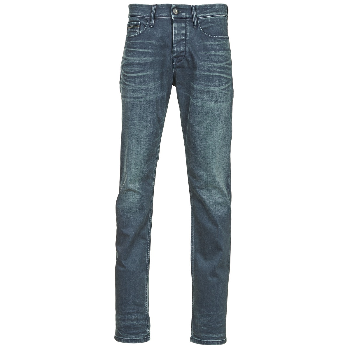 Calvin Klein Jeans SLIM STRAIGHT Bleu foncé