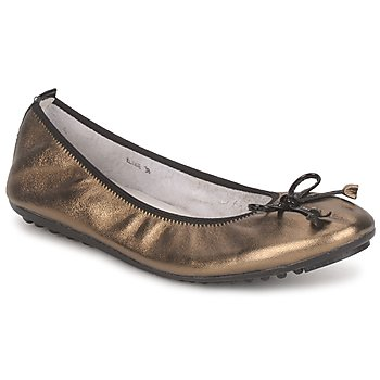 Chaussures Femme Ballerines / babies Mac Douglas ELIANE Bronze / Noir Verni