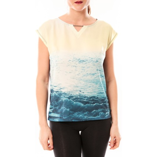 Vêtements Femme T-shirts manches courtes Little Marcel Tee-shirt Trisi E15FTSS0333 Bleu Bleu