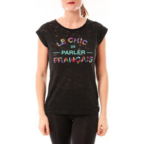 Vêtements Femme T-shirts manches courtes Little Marcel Tee-shirt Tamia E15FTSS0124 Noir Noir