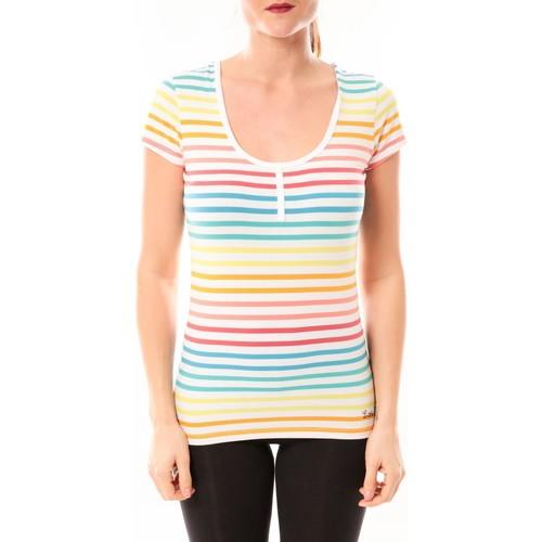 Vêtements Femme T-shirts manches courtes Little Marcel Tee-shirt Tatoum Multi 318FB Blanc Blanc