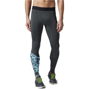 Vêtements Homme Leggings Reebok Sport OS Compression Tight Bleu/ Vert