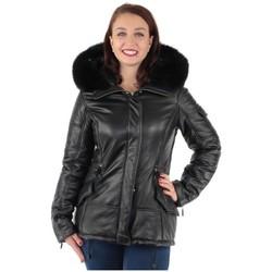 Vêtements Femme Parkas Pallas Cuir Doudoune  sélection Sasha en cuir ref_f noir