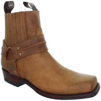 Chaussures Homme Boots Sendra boots Boots  Pete33 Sprinter en cuir ref_sen35243-marron Marron