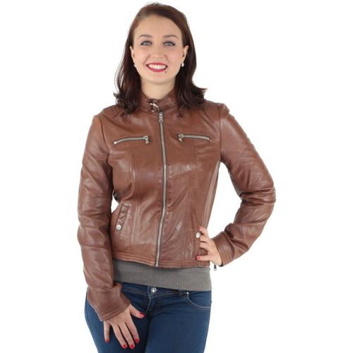 Vêtements Femme Vestes en cuir / synthétiques Redskins Blouson  Misha Fiesta en cuir ref_trk35550-cognac cognac