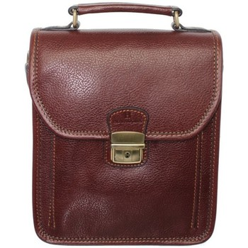 Sacs Homme Pochettes / Sacoches Hexagona Sacoche bandoulière  en cuir ref_xga33907-marron marron