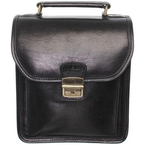 Sacs Homme Pochettes / Sacoches Hexagona Sacoche bandoulière  en cuir ref_xga33907-noir noir