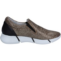 Chaussures Femme Slip ons Elena Iachi slip on mocassins or glitter noir cuir BT588 OR