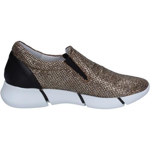 Chaussures Femme Slip ons Elena Iachi slip on mocassins or glitter noir cuir BT588 Doré