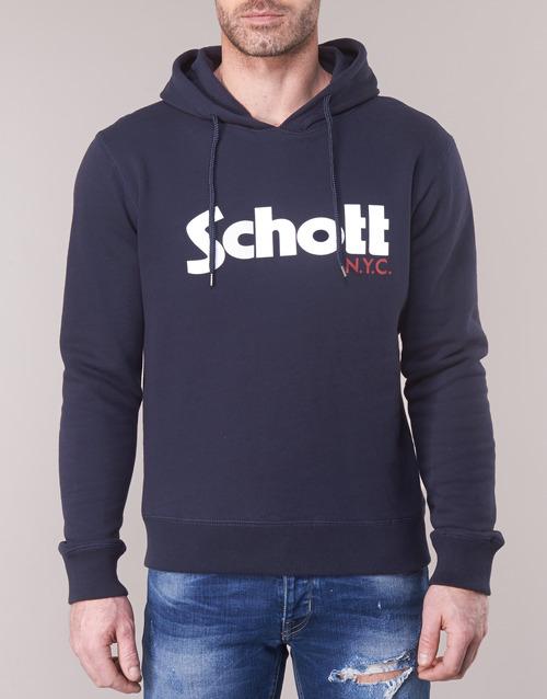 Sweats Schott Schott Hood Hood Marine Homme Homme Sweats Marine kXuwiTZPOl
