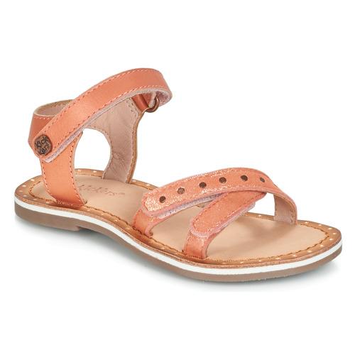 Chaussures Fille Sandales et Nu-pieds Kickers DIDONC Rose métal