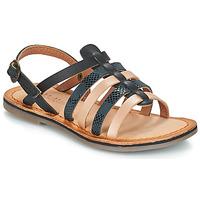 Chaussures Fille Sandales et Nu-pieds Kickers DIXON Noir serpent