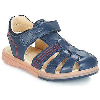 Chaussures Garçon Sandales et Nu-pieds Kickers PLATINIUM Marine