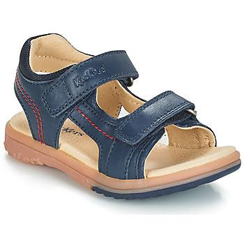 Chaussures Garçon Sandales et Nu-pieds Kickers PLATINO Marine