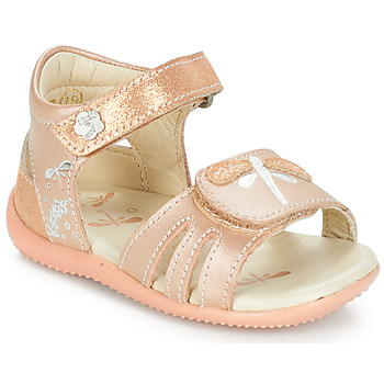 Chaussures Fille Sandales et Nu-pieds Kickers BESHINE Rose metal