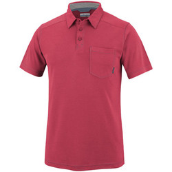 Vêtements Homme Polos manches courtes Columbia Sun Ridge ll Novelty Polo Rouge