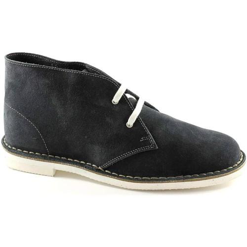 Chaussures Homme Boots Manifatture Italiane MANIFATTURE ITALIENNES 190 chaussures bleues homme bottes de ran Blu