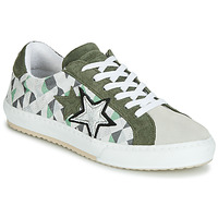 Chaussures Femme Baskets basses Mustang 2874302-277 Kaki / Blanc