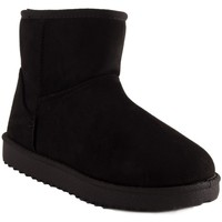 Chaussures Femme Bottes de neige Primtex Bottes fourrées  forme boots basse à fourrure synthétique Noir