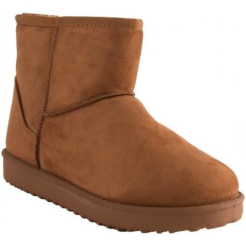Chaussures Femme Bottes de neige Primtex Bottes fourrées  forme boots basse à fourrure synthétique Camel